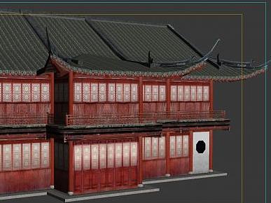 3d古建筑房屋模型