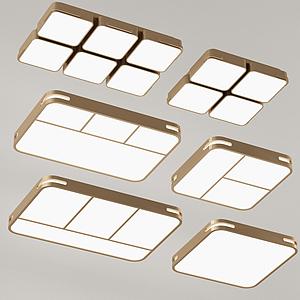 現代金屬吸頂燈模型