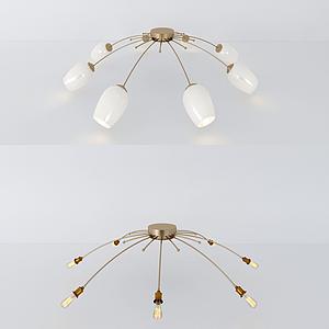 現代吸頂燈模型