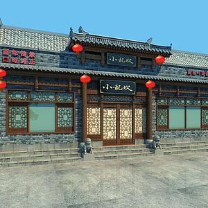 门头古建中式门面模型