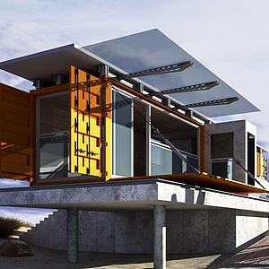 集裝箱別墅模型