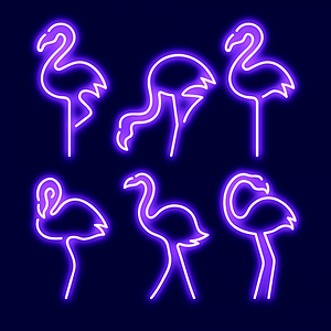 火烈鳥霓虹燈模型