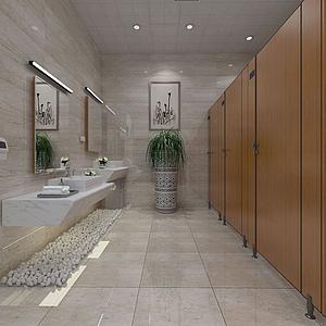 3d衛生間男廁模型