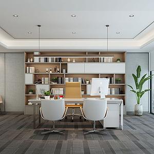 现代总经理办公室模型