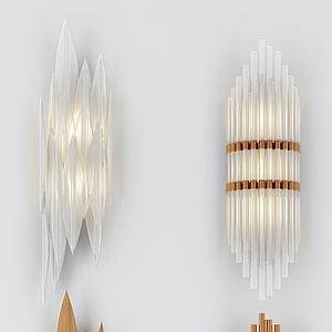 3d北歐壁燈組合模型