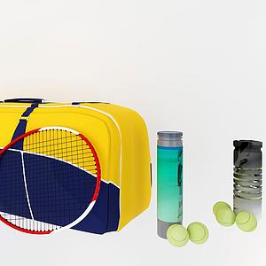 網球拍模型