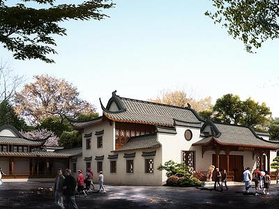 3d文化禮堂模型
