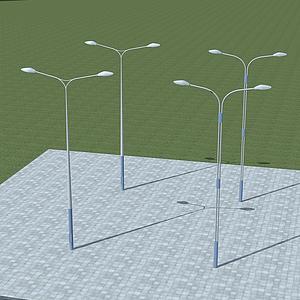 雙臂路燈模型