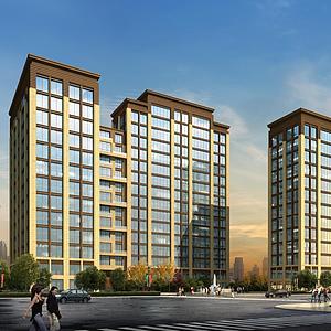 3d酒店公寓大樓模型