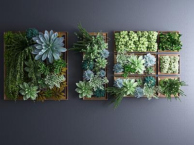 3d植物墻<font class='myIsRed'>綠植墻</font>景觀墻模型
