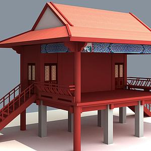 3d古建戲臺模型