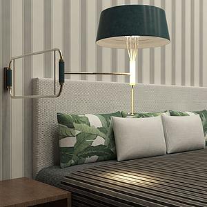 活動式床頭燈模型