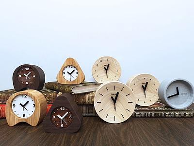 3d各式現代鬧鐘鐘表組合模型