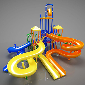 3d幼兒游樂器材<font class='myIsRed'>滑梯</font>模型