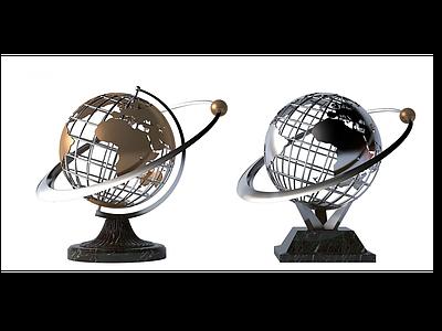 3d現代<font class='myIsRed'>地球</font>雕塑模型