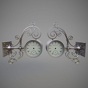 鐵藝壁掛鐘模型