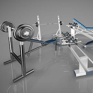建身器材啞鈴模型