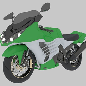 3d川崎摩托中国Kawasaki模型