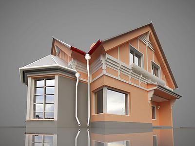 3d歐式小<font class='myIsRed'>房子</font>模型