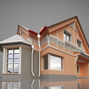 歐式小房子模型