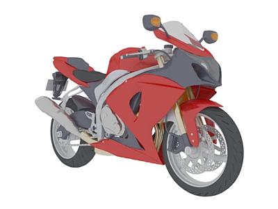 3d現代摩托<font class='myIsRed'>車</font>模型