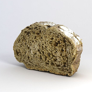游戲道具面包模型