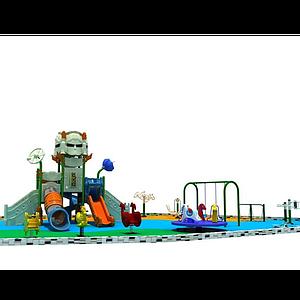 3d機器人<font class='myIsRed'>滑梯</font>兒童樂園模型