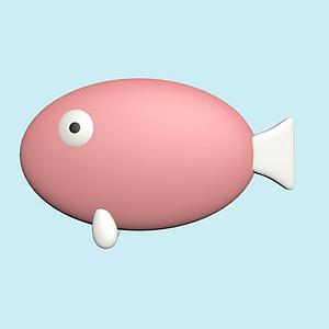 粉紅色的魚模型