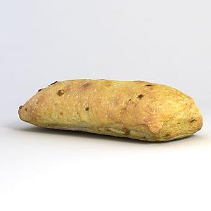 長條葡萄干烤面包模型