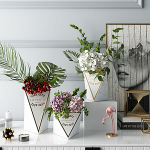 3d北歐花瓶飾品擺件模型