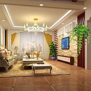 家裝客廳模型