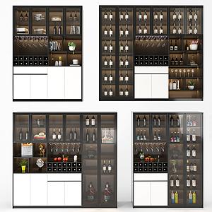 現代酒柜模型