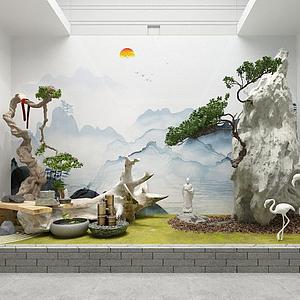 園藝小景模型