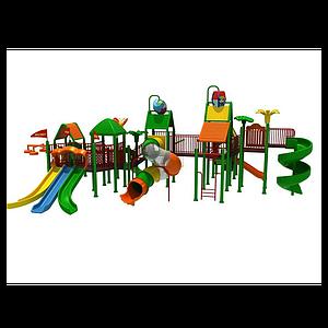 3d大型<font class='myIsRed'>滑梯</font>兒童游樂設施模型