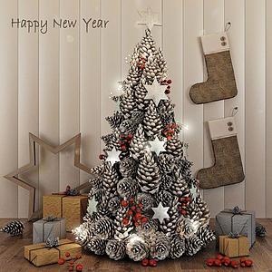 3d圣诞树礼物模型