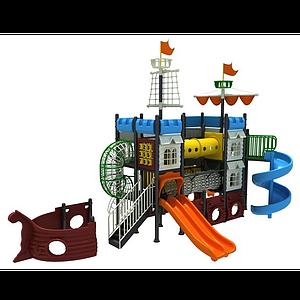 3d海盜船<font class='myIsRed'>滑梯</font>大型游樂設施模型