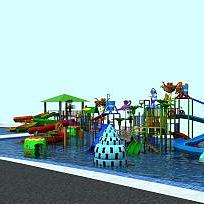 3d大型<font class='myIsRed'>滑梯</font>水上樂園設施模型