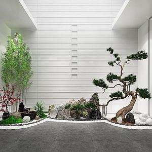 max园林景观园艺小品模型