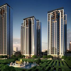 住宅高层模型