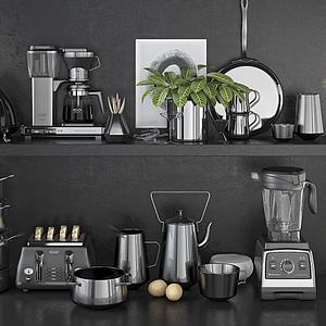 現代咖啡機攪拌機榨汁機模型