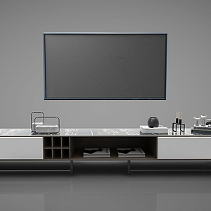 3d電視柜及電視模型