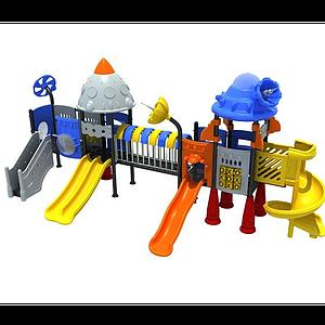3d兒童<font class='myIsRed'>滑梯</font>兒童游樂設施模型