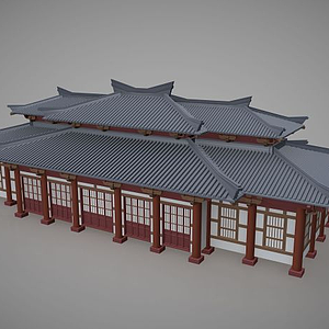 3d中国传统<font class='myIsRed'>古建筑</font>住宅模型