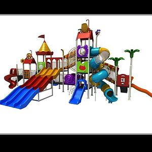 3d兒童游樂設施<font class='myIsRed'>滑梯</font>模型