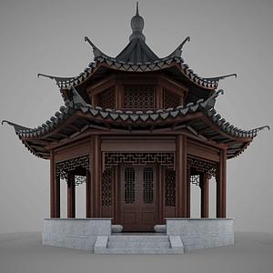 3d中國傳統<font class='myIsRed'>古建筑</font>模型