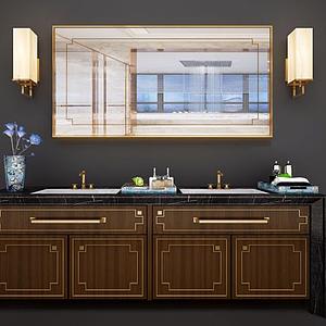 新中式衛浴洗手池模型