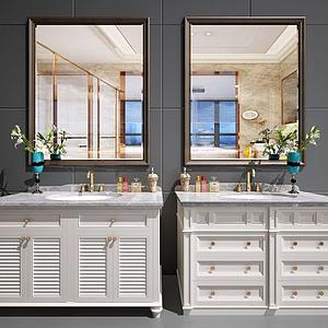 歐式美式衛浴柜模型