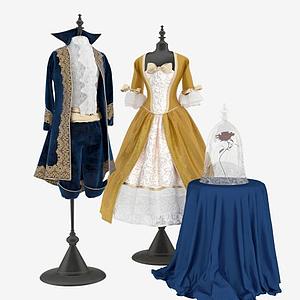 男女婚紗禮服晚禮服模型