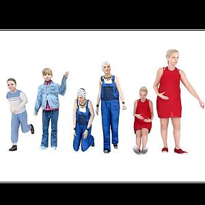 一家人大人小孩組合模型