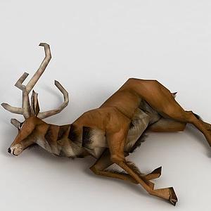 3d<font class='myIsRed'>游戲角色</font>鹿尸體模型